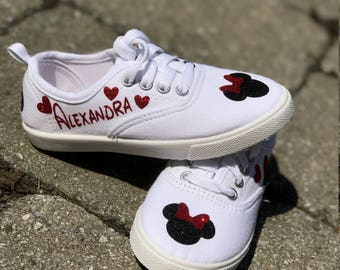 Disney Shoes~Custom Shoes~Personalized Disney Shoes~Disney World~Disney Vacation~Mickey and Minnie Mouse~Mickey Shoes~Canvas Shoes~Custom