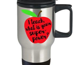 Teacher Travel Mug, Teacher Appreciation Gift, Back To School Gift