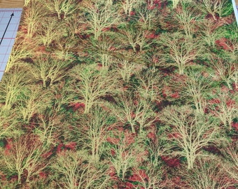 Glistening Trees-Red and Green-Cotton Fabric from Paintbrush Studios