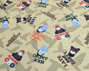 Duck Dynasty-Faces Sayings Toss Cotton Fabric from Springs Creative