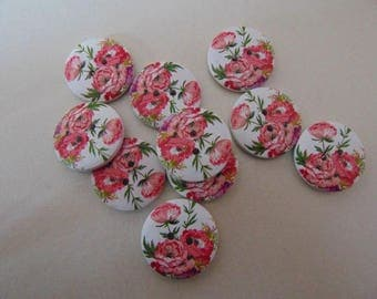 set of 10 round buttons