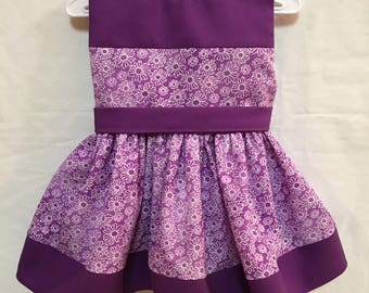 Purple and white Floral Print Dress