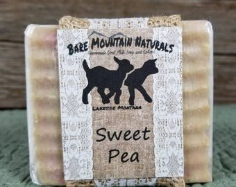 Sweet Pea fragrance, All Natural Goat Milk Soap
