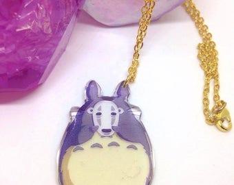 Totoro X Noface necklace