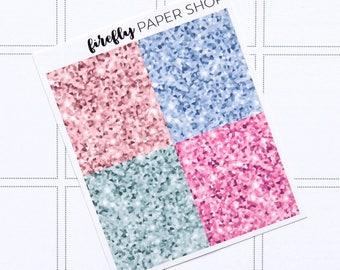 Style Glitter Headers (stickers for Erin Condren Life Planner - Vertical)