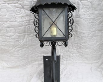 Vintage French Lamp, kitchen lamps, conservatory lighting, black wall lamps