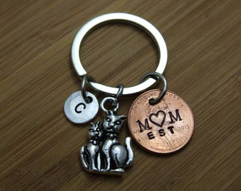 Personalized Penny Key Chain, Good Luck Penny , Cat Key Chain, Personalized Key Chain, Mom Accessory, Gift for Mom, Gift Under 10