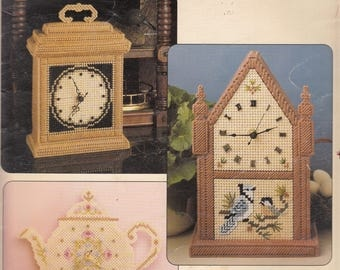 Classic Clocks in Plastic Canvas