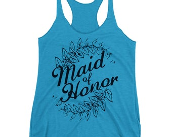 Maid Of Honor Tank. Bridal Party Top. Maid Of Honor Shirt. Maid Of Honor Proposal. Party Tank Top. Bridal Party.