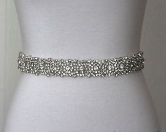 Bridal Belt, Bridal Sash, Wedding Belt, Wedding Sash Rhinestone Sash