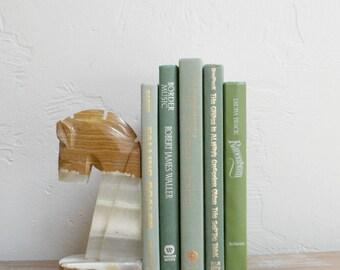Sage Green Books, Wedding Table Decor, Olive Books, Photo Prop, Bookshelf Decor, Moss Books Book Collection, Bookcase Decor, Decorative Book