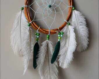 Dream catcher and ostrich feathers