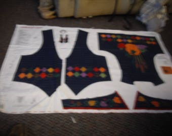 Dreamspinners VIP Harvest Adult Ladies Vest Panel Fabric Sew Your Own