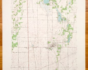 Antique Lowell Indiana 1962 Us Geological Survey Topographic Map Cedar Lake Dalecarlia