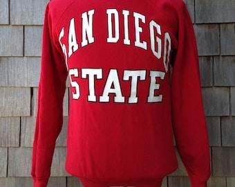 Vintage 80s San Diego State University Aztecs sweatshirt - Small