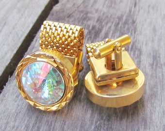 gift|for|Him jewelry mens cufflinks vintage Mens Jewelry wedding vintage gold jewelry gold cuff links gold