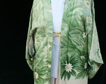 Vintage Japanese Silk Haori Jacket