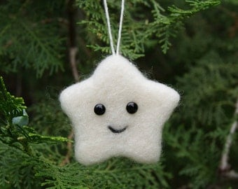 Christmas Ornaments Party Favor Needle felted star Christmas tree decoration Thanksgiving