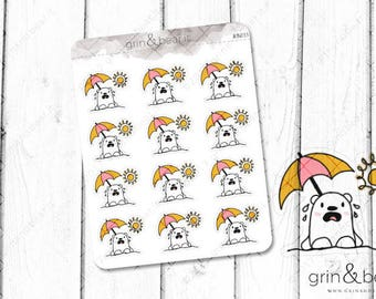 Hot Sun! - Barry the Bear Stickers (BB035)