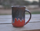 Orange Coffee Mug - Handmade Pottery Mug - Ceramic Mug - Coffee Mug - Tea Cup