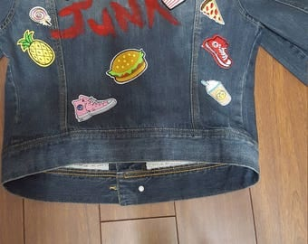 JUNK N DA TRUNK: Upcycled Junky Jean jacket