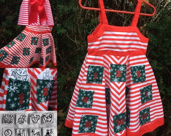 Girls play and learn Christmas party dress