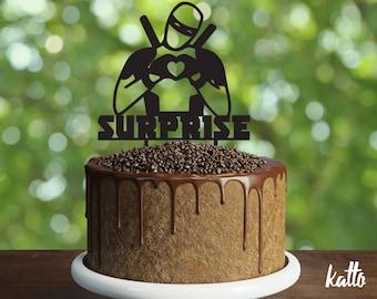 Ninja Birthday Cake Topper- Customizable Birthday Cake Topper- Ninja Cake Topper- Silhouette ninja Cake Topper- Personalized cake topper