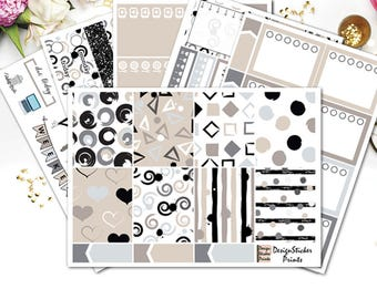 Neutral Geometric Planner Stickers for Erin Condren Lifeplanner/Neutral Weekly Kit/Abstract Planner Stickers/Geometric Weekly Planner kit