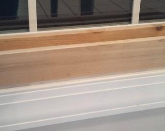 18 inch cedar window sill planter
