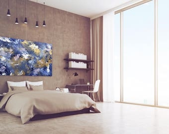 Abstract Original Painting, Acrylic Canvas Wall Art
