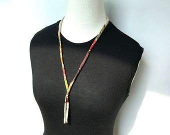 silk cord beads necklace