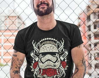 Star Wars Stormtrooper Sugar Skull Tattoo T-Shirt