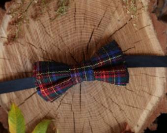 Anniversary gift Gray Plaid Wool bow tie Gift for men Gift for him Bow tie for men Boyfriend gift Groomsmen gift Birthday gift Mens bow tie