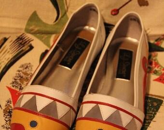 L.J. Simone Multi-Color Leather Flats
