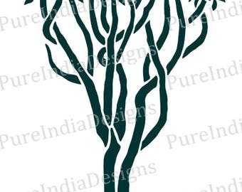 Topiary Tree  svg, Tree svg, Stencil vector art,  Silhouette Cameo, instant download, Digital Cut, Print Files, Svg, DXF, EPS, Wall Decals