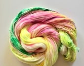 Cactus Flower Hand Dyed Fingering Weight Yarn for Knitting and Crochet