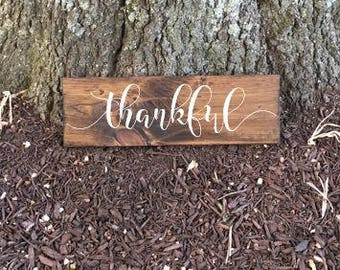 Thankful Sign, Housewarming Gift, Wecoming Sign, Housewarming Sign, Thankful Wood Sign, Fall Thankful Sign, Thanksgiving Decor, Fall Decor