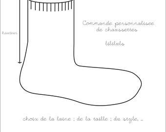 Custom hand knitted baby socks