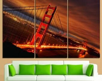 Golden Gate San Francisco California San Francisco poster California print San Francisco wall decor San Francisco photo California poster SF