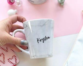 Personalised Mug, Marble Mug, Custom Mug, Ceramic mug, Marble, Custom Marble mug, coffee mug, latte mug, gift for her, latte gift, cool gift