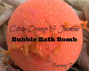 Citrus Orange & Jasmine Bubble Bath Bomb,Bath  Fizzie,Bubble Bar,Bubble Bath,Spa Bath Bomb