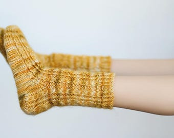 Walkin' On Sunshine - Handknit Doll Socks for 1/3 SD13 BJD