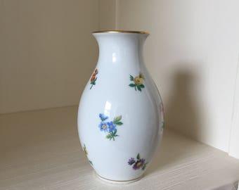 Flower Vase Hutschenreuther, Porcelain Vase, Mirabell Vase