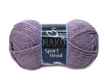 NAKO SPORT WOOL Blend acrylic wool color choice hand knit yarn Premium acrylic wool nako yarn wool yarn spring yarn winter yarn soft yarn