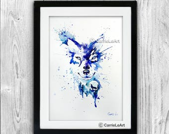 Original Wolf Watercolour A3 (30*40cm/16*12 Inches)Wolf art, Wolf Painting , Wolf Poster,Wolf lover,Wolf Portrait,wolf wall art
