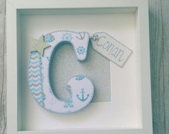 New baby frame, new baby gift, Christening gift, New baby present, personalised baby gift
