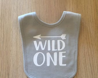 Birthday bib Baby boy baby girl bib first birthday bib photo prop wild one smash cake photo prop wild one