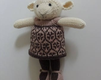Knitted Girl Sheep, Lamb