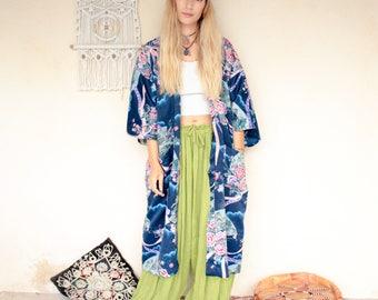 Vintage 90's Oriental Print Kimono
