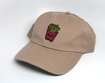 French Fry Dad Hat Khaki